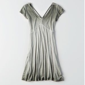 New American Eagle Ribbed Knit Scoop Dress - XL
